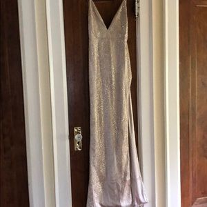 Meshki prom dress - champagne/size M